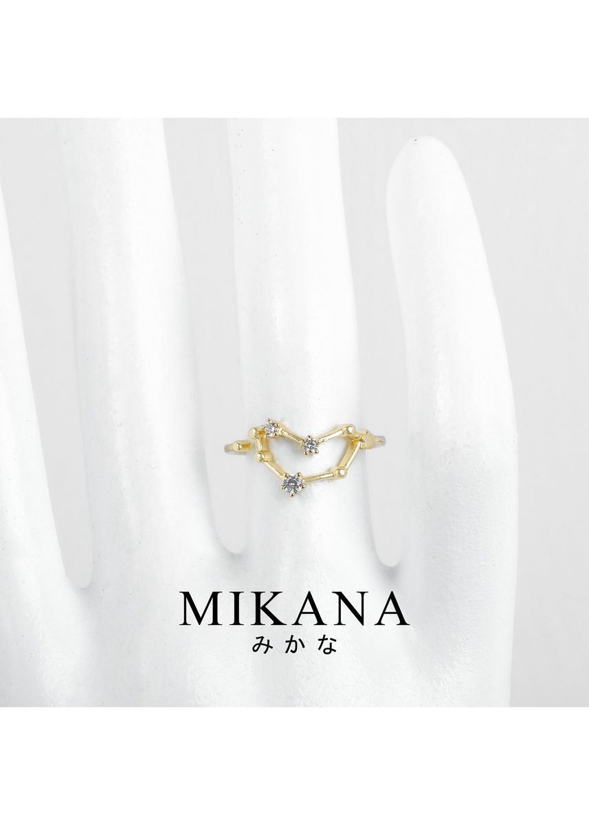 Gold color  . Mikana Constellation 18k Gold Plated Capricorn Umiyagi Ring Accessories For Women -