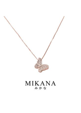 Gold color  . Mikana 18k Rose Gold Plated Akai Pendant Necklace accessories for women -