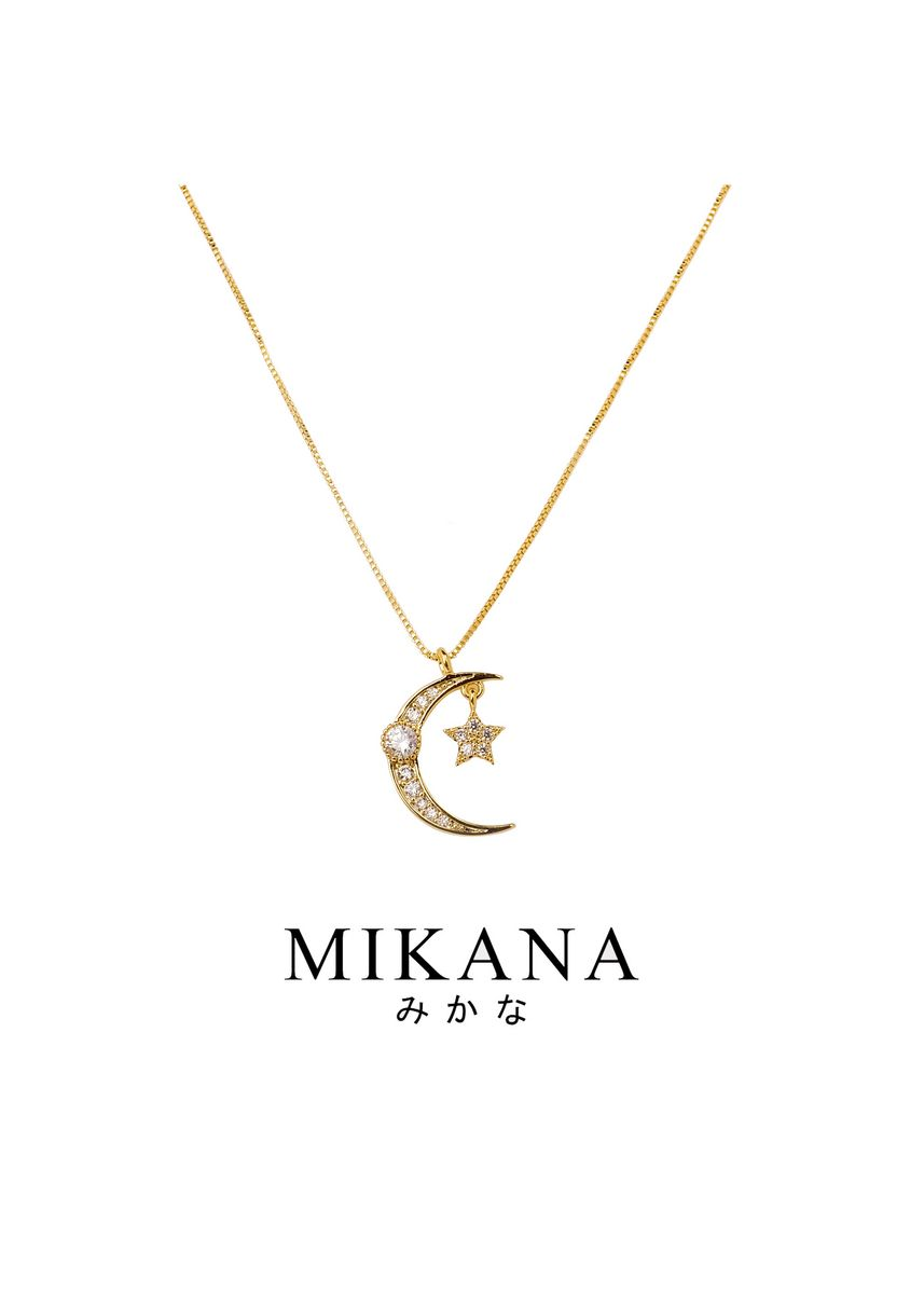 Gold color  . Mikana 18k Gold Plated Akasuki Pendant Necklace accessories for women -