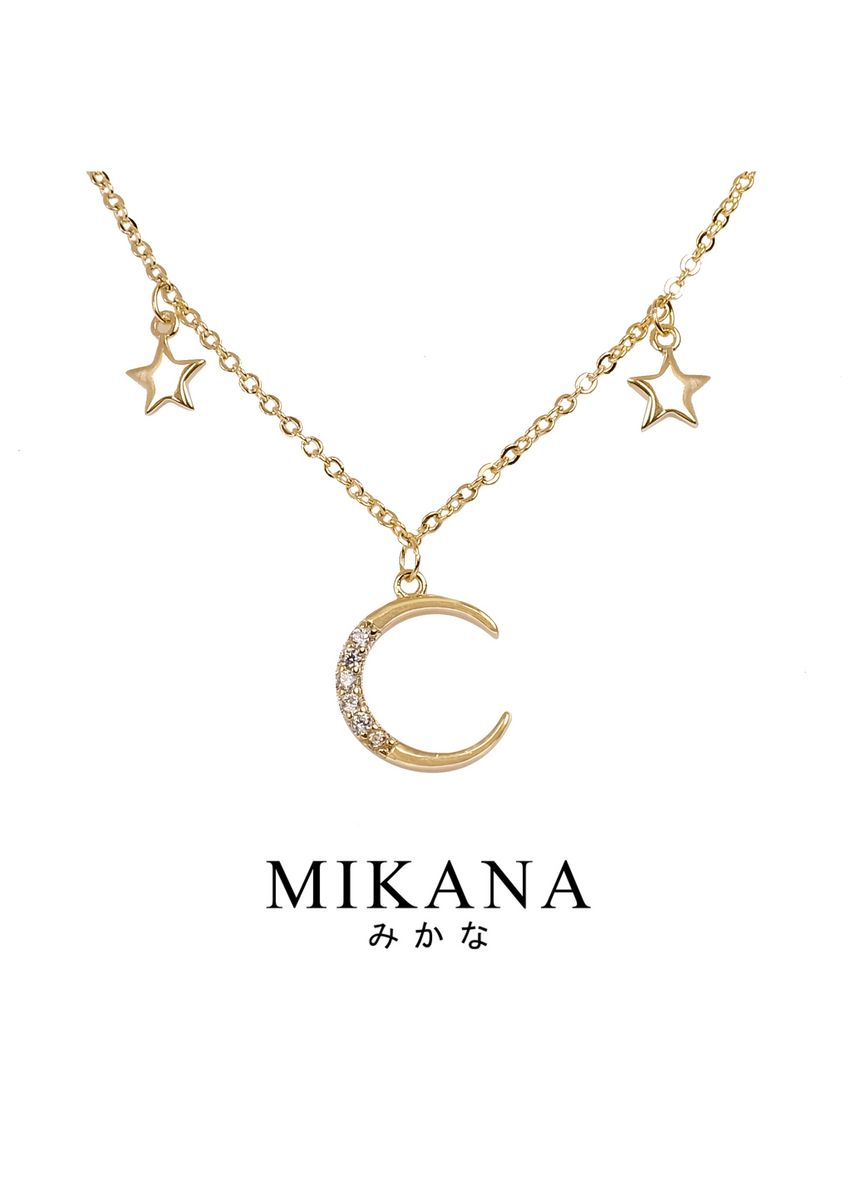 Gold color  . Mikana 18k Gold Plated Chihaya Pendant Necklace accessories for women -