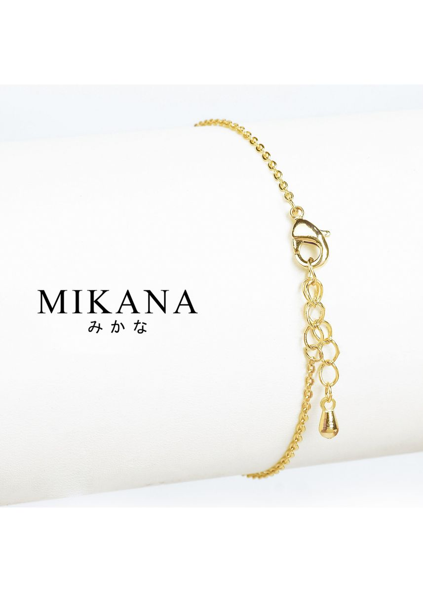 Gold color  . Mikana 18k Gold Plated Saeko Link Bracelet accessories for women -
