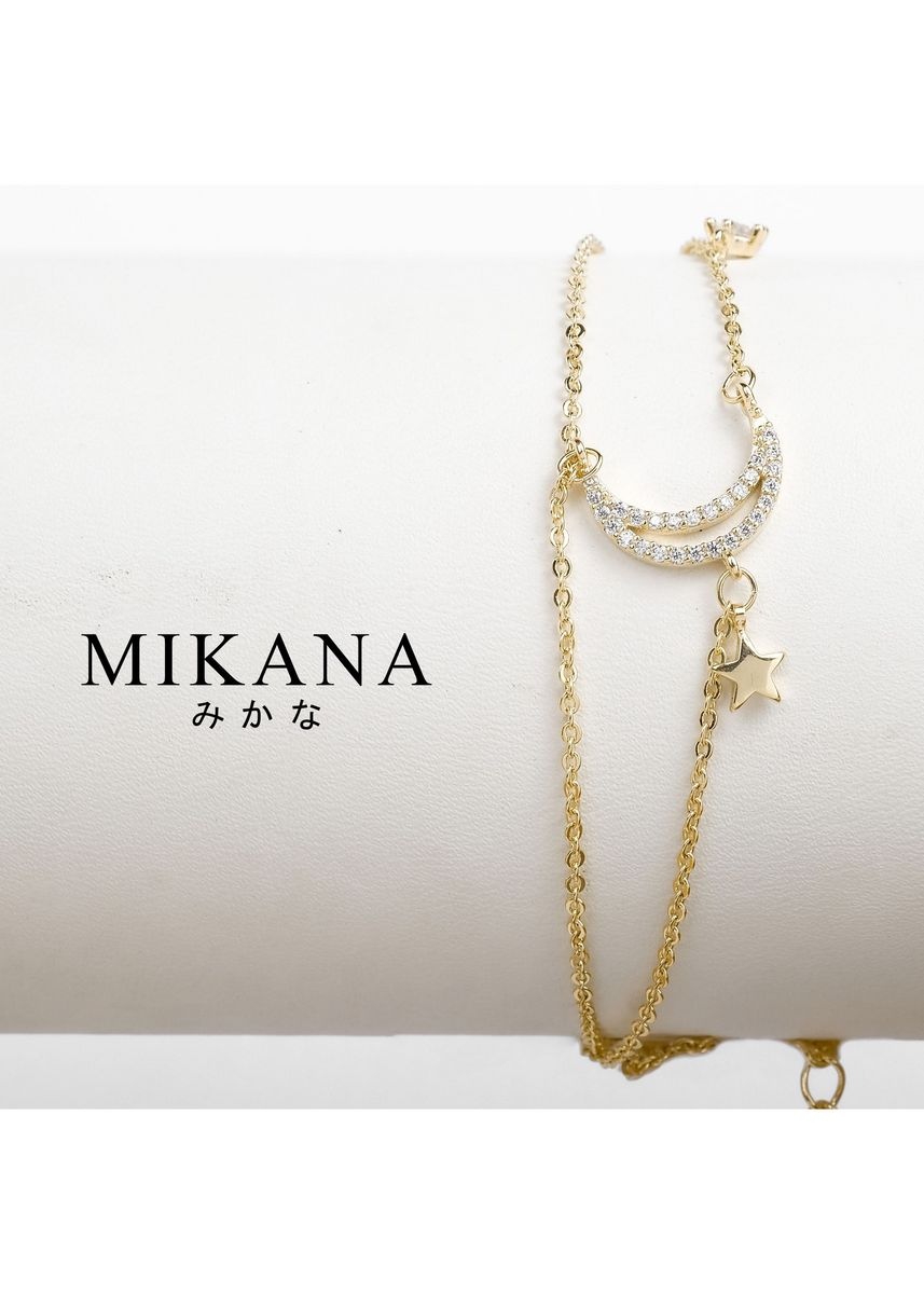Gold color  . Mikana 18k Gold Plated Tsubaki Anklet accessories for women -