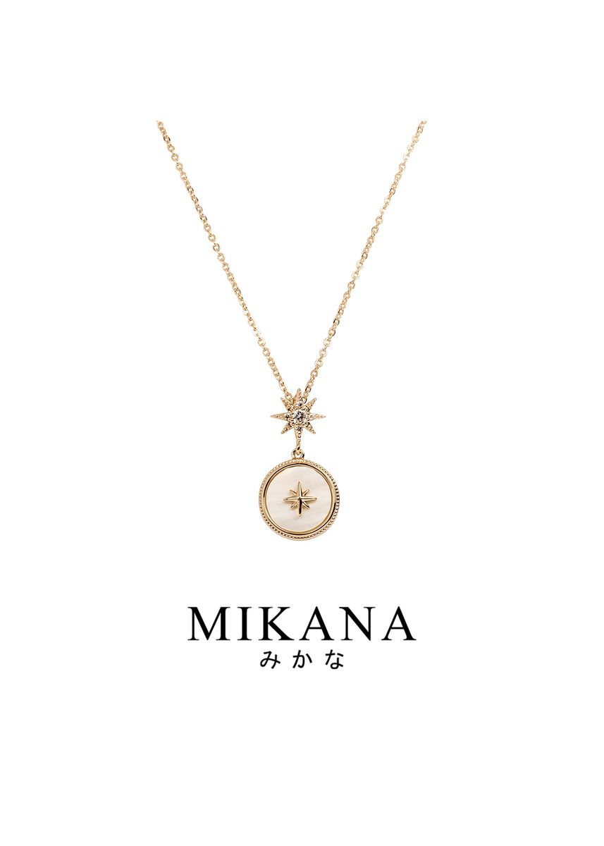 Gold color  . Mikana 18k Rose Gold Plated Tsukasa Pendant Necklace accessories for women -
