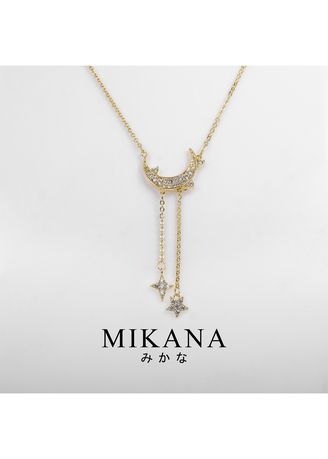 Gold color  . Mikana 18k Gold Plated Uruha Pendant Necklace accessories for women -