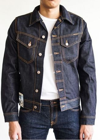 Navy color Jackets . NUDIE JEANS CONNY DRY VARIANT JACKET -