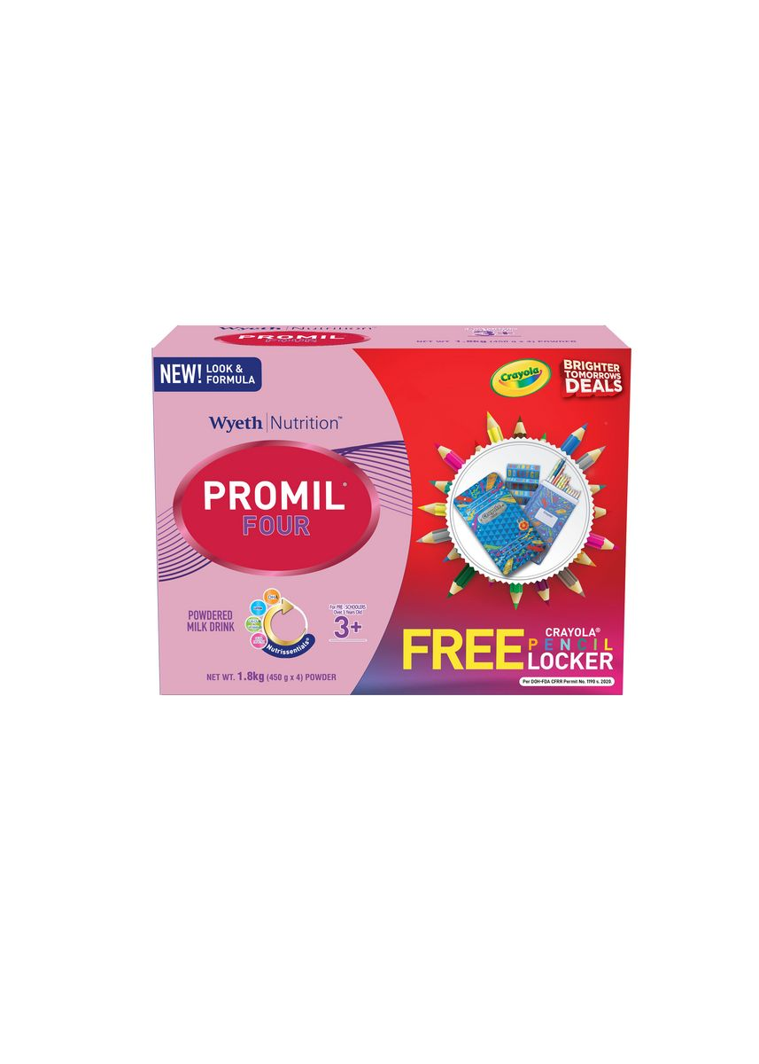 No Color color Milk . Promil Four 1800g with FREE Crayola Pencil Locker -