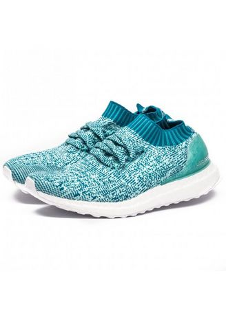 Blue color Casual Shoes . Adidas Running Ultraboost Uncaged Energy Aqua / Mistery Petrol / Ftwr White - S80781 -