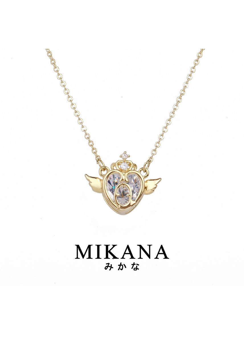 Gold color  . Mikana Mahou Shoujo Magical Girl Sailor Moon 18k Gold Plated Cosmic Heart Jewelry Set Accessories For Women -