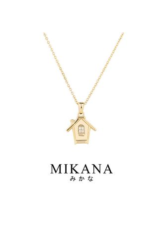 Gold color  . Mikana Start-Up 18k Gold Plated Dosane Pendant Necklace accessories for women -