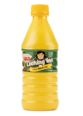 No Color color Cooking Oil . Cooking Ina Palm Oil, 350ml (40 Pieces/Case) -