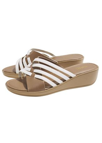 Brown color Sandals and Slippers . Ola Ladies Wedge Strappy Sandals -