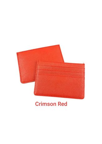 Multi color Aksesori . Bukuku Card Holder Brooklyn / Dompet Kartu Brooklyn Crimson Red Sandy -