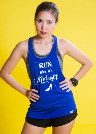 ฟ้า color  . Run Like It's Midnight Tank Tops -