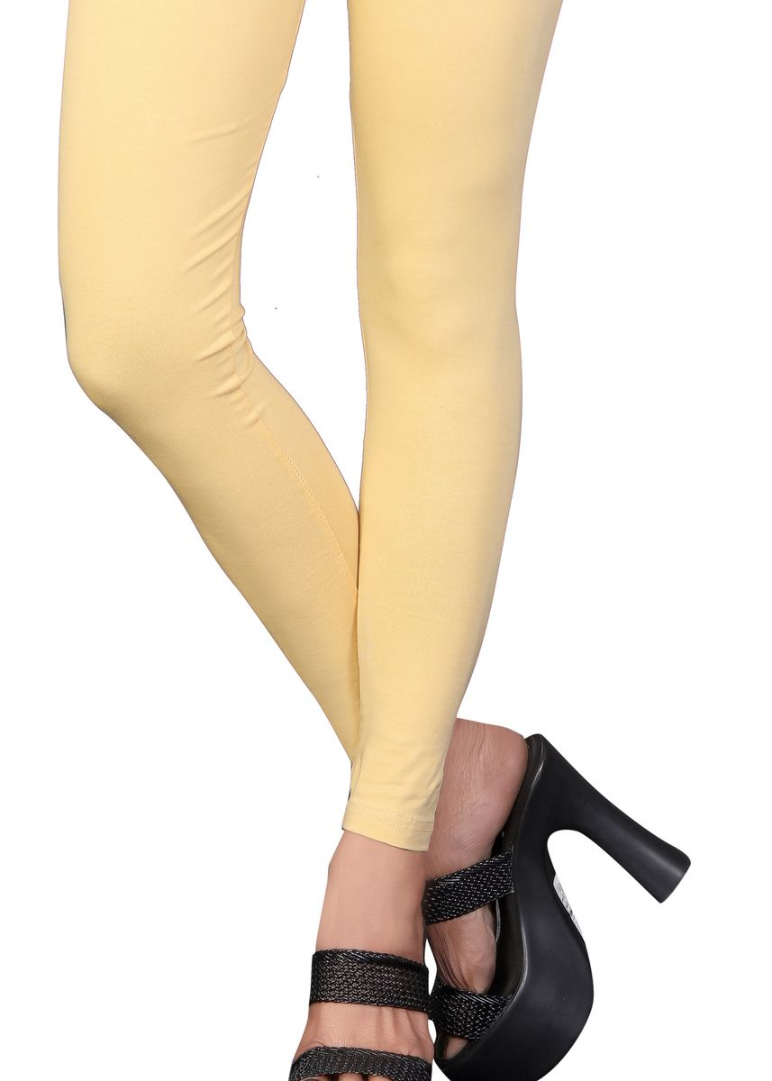 Beige color Leggings . BEIGE ANKLE LENGTH LEGGINGS -