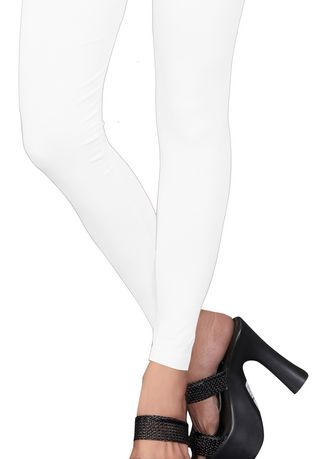 White color Leggings . WHITE ANKLE LENGTH LEGGINGS -