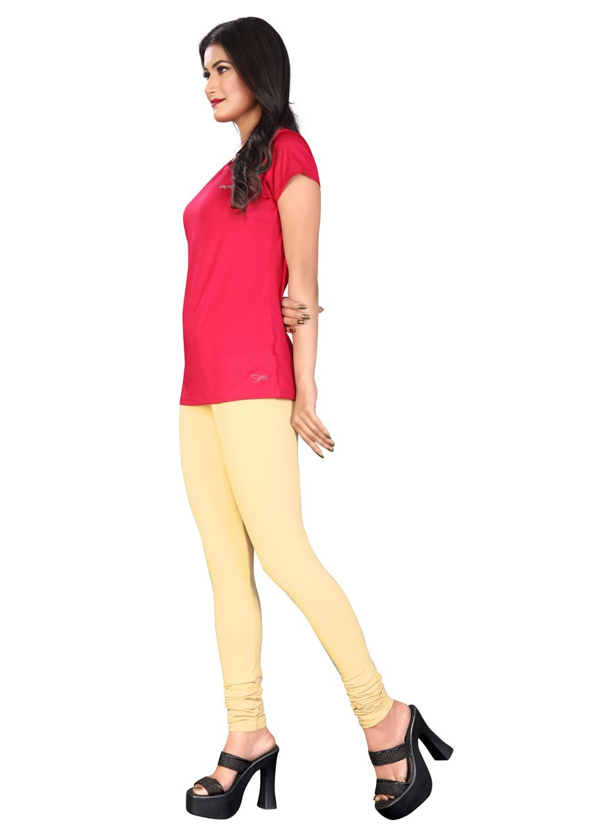 Beige color Leggings . BEIGE CHURIDAR LENGTH -
