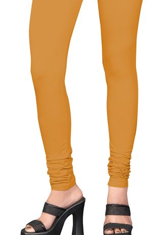 Khaki color Leggings . CHIKU CHURIDAR LENGTH -