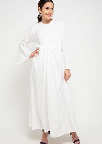 A - Ivory color Terusan/Dress . Naya Dress - A	Broken White -