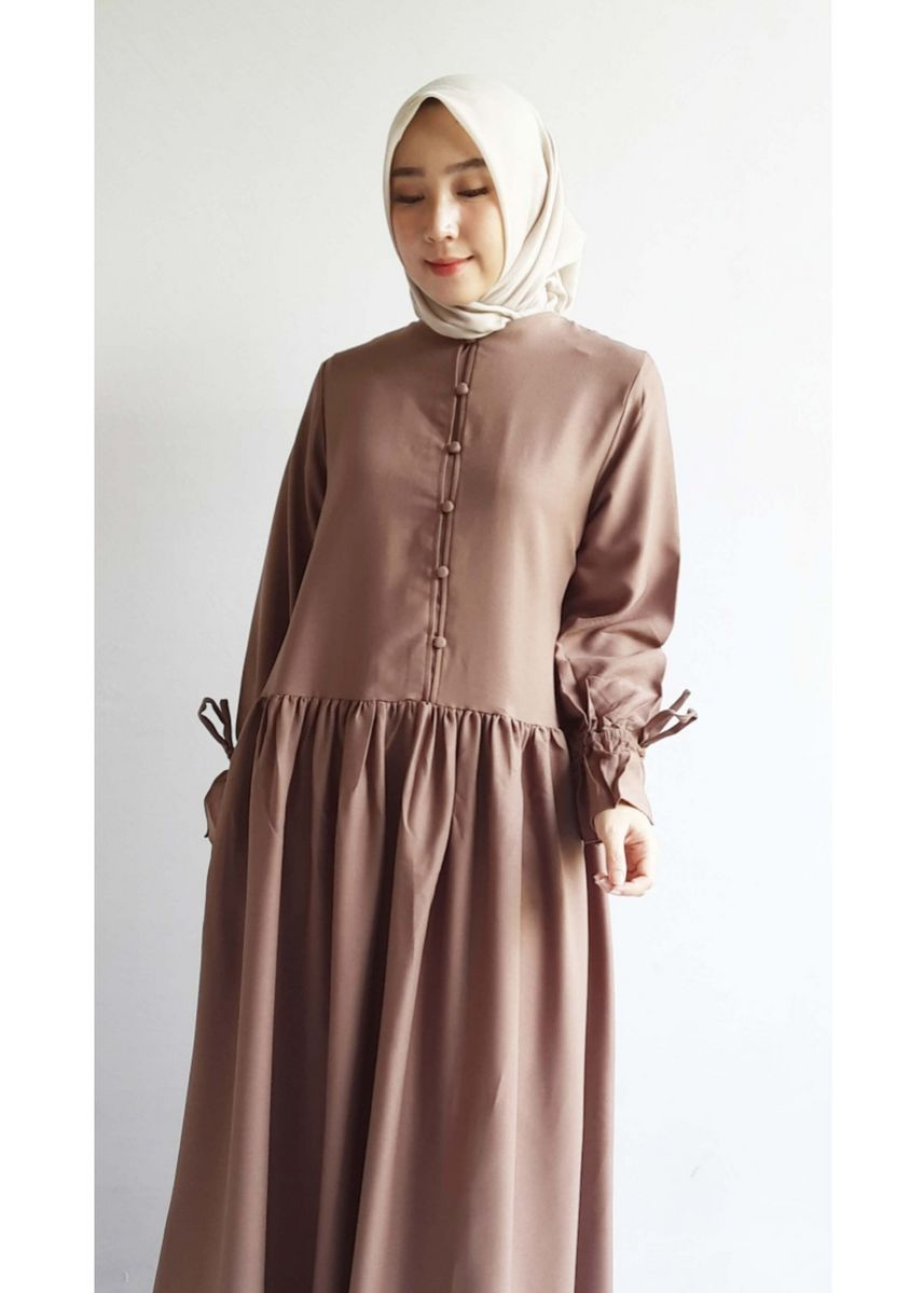 C - Brown color Dresses . Aniq Dress -