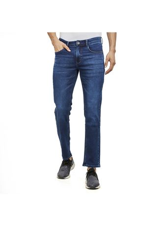 Blue color Jeans . ROXTON - MID-Rise Skinny Jeans(RX148) -