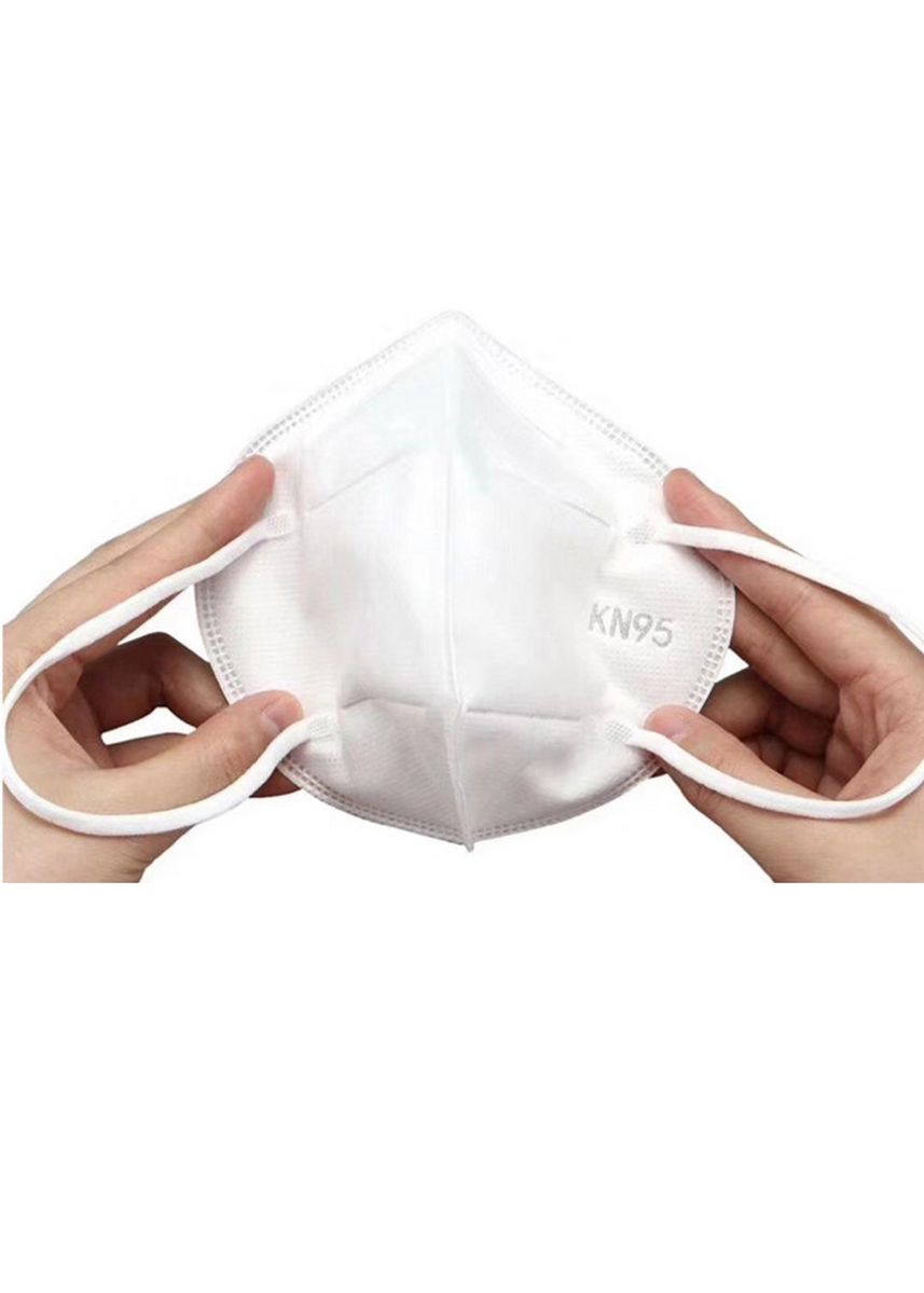 White color Masks . KN95 Personal Protective Face Mask, 4 Layer Mouth Cover (10 Pieces/Set) -