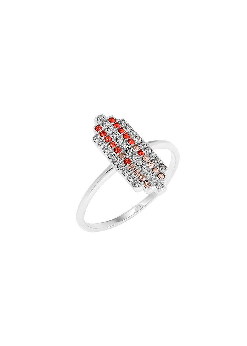 เงิน color  . Aevari Praewa Ring Sterling Silver 925 with Padparadcha Crystal -