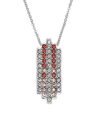 . Aevari Praewa Necklace Sterling Silver 925 with Padparadcha Crystal -