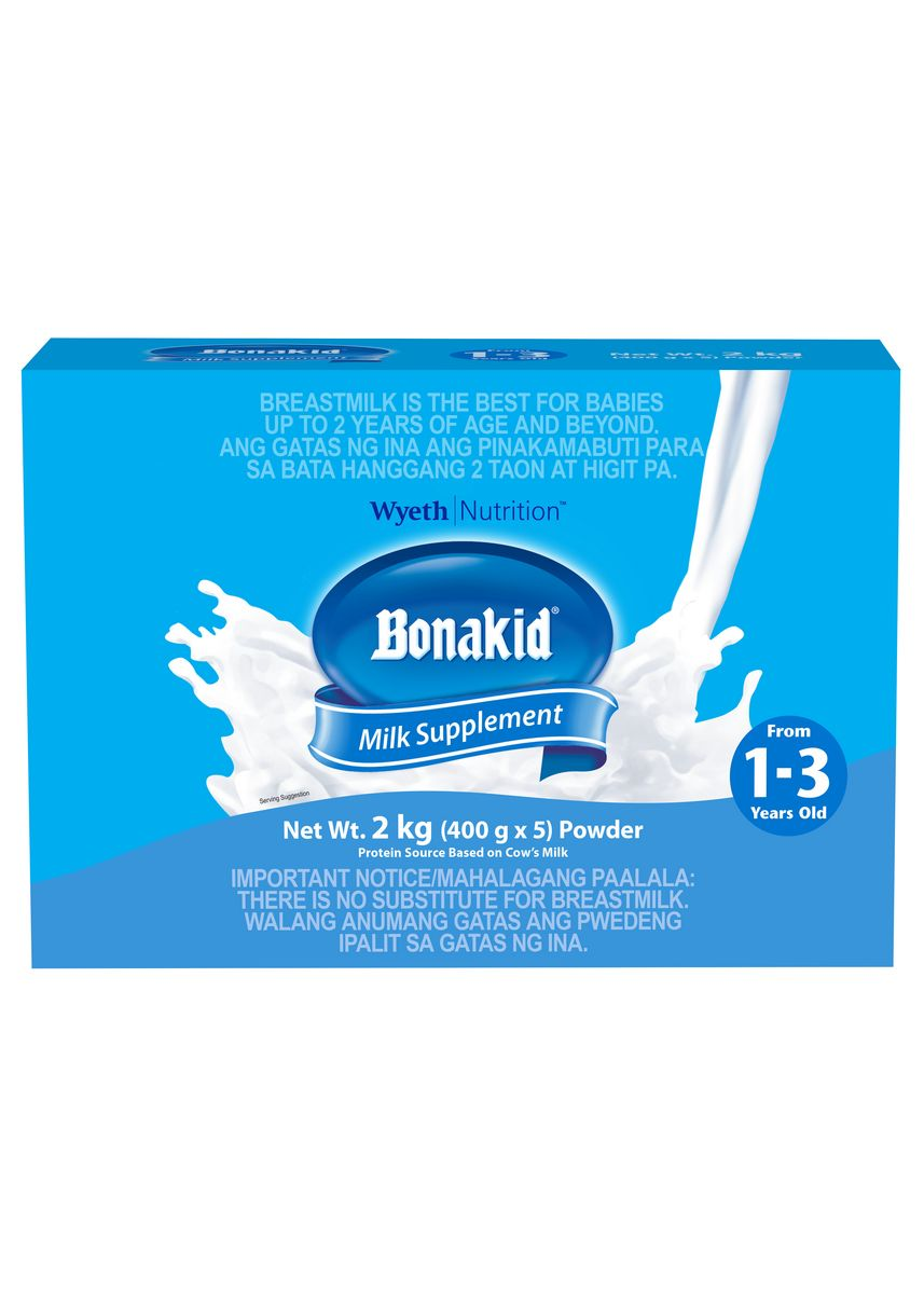 No Color color Milk . Wyeth Bonakid Stage 3 Powdered Milk Drink For Children 1 To 3 Years Old, 2kg Box -
