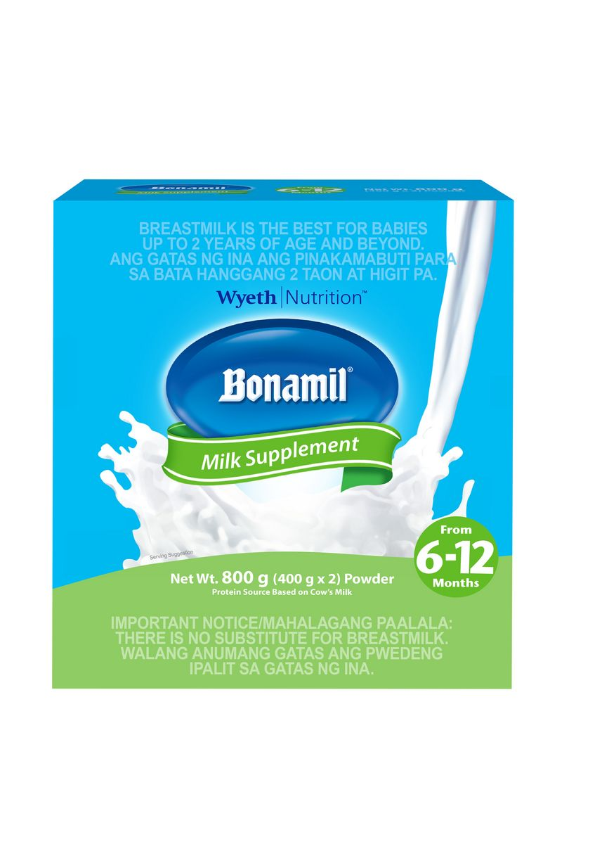 No Color color Milk . Wyeth Bonamil Stage 2 Milk Supplement for 6 to 12 Months, 800g Box -