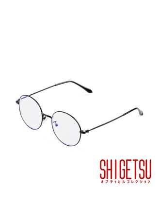 Black color Frames . Shigetsu KATAGAMI anti radiation / blue light / computer eyewear / replaceable optical lens / high quality hinges / metal frame / 8708 -