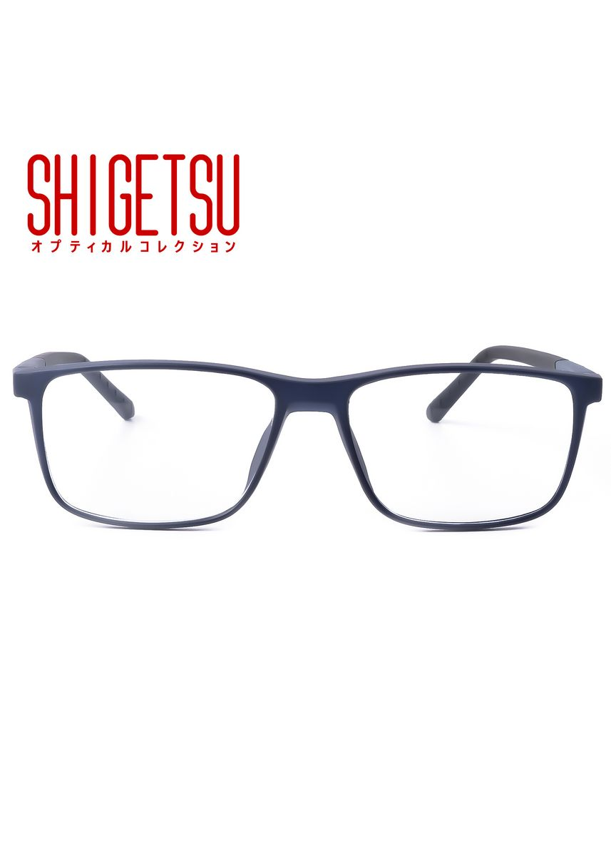 Blue color Frames . Shigetsu MATSUE Square Computer eyeglasses for Men with Anti Radiation/Bluelight in Acetate frame -