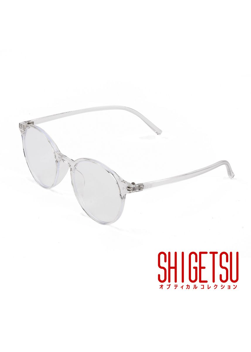 White color Frames . Shigetsu KATORI Semi round Computer eyeglasses for Women with Anti Radiation/Bluelight in Acetate frame, Replaceable lens fashion eyewear -