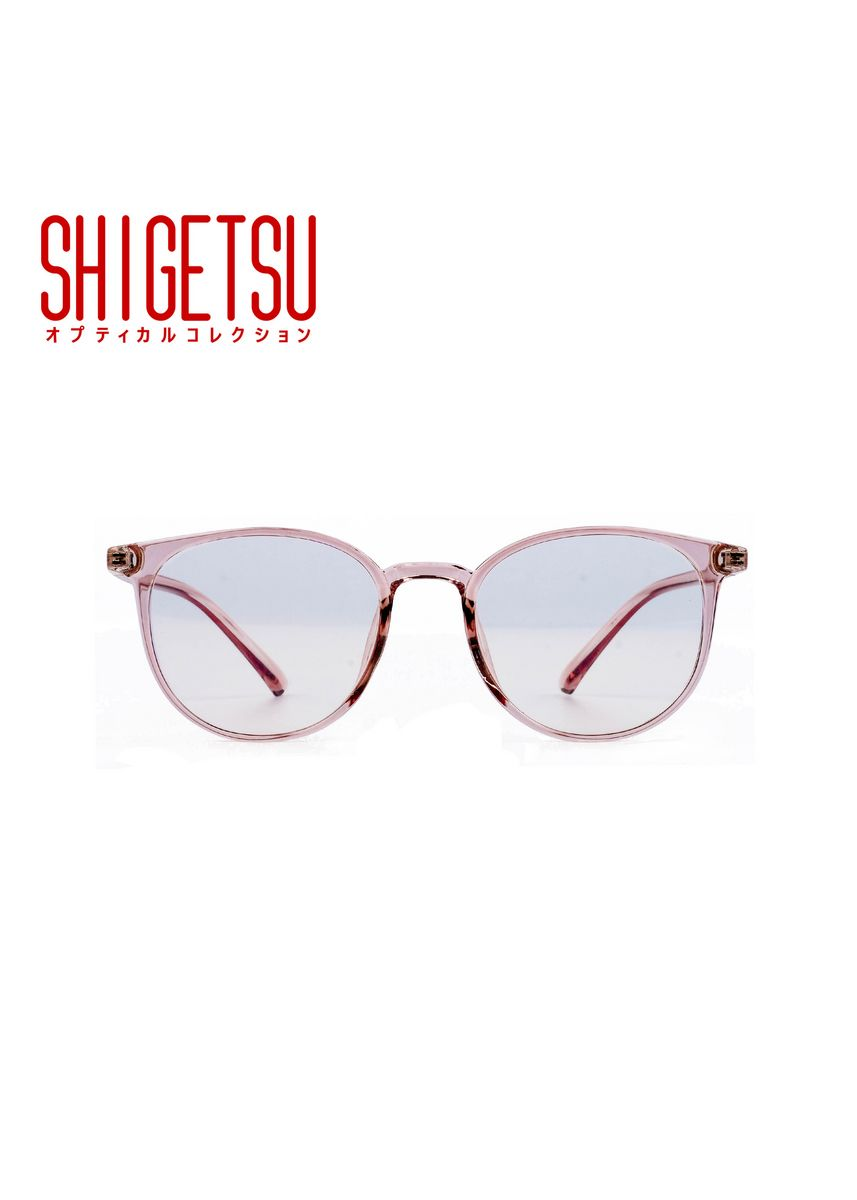 Pink color Frames . Shigetsu SAKURA Semi round Computer eyeglasses for Women with Anti Radiation/Bluelight in Transparent TR90 frame, Replaceable lens fashion eyewear -