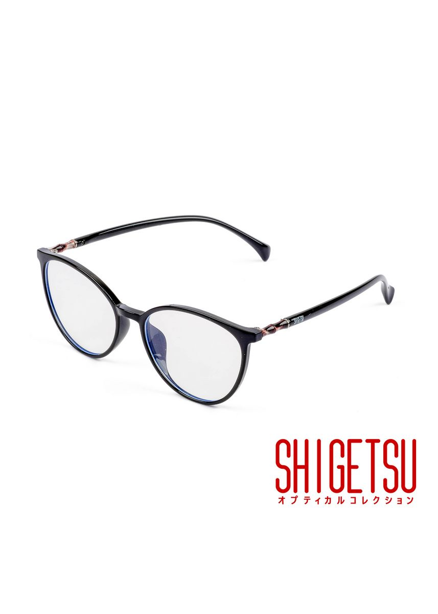 Black color Frames . Shigetsu TATEYAMA Semi round Computer eyeglasses for Women with Anti Radiation/Bluelight in TR90 frame, Replaceable lens fashion eyewear -
