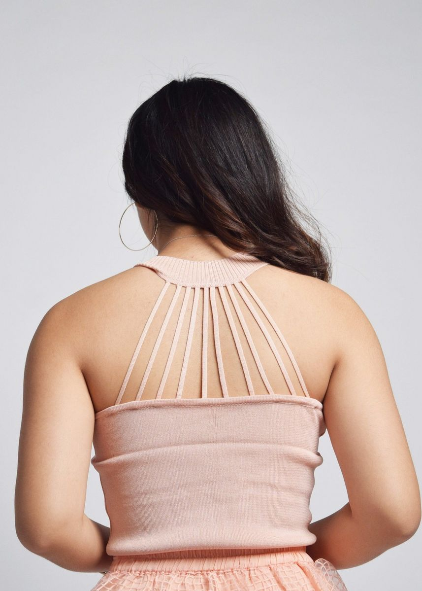 Pink color Tops and Tunics . Brooklene Strappy Back Top -