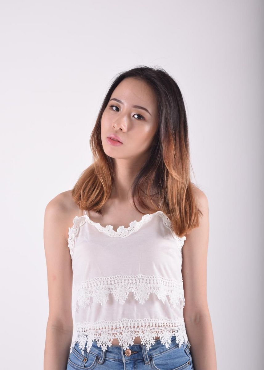 White color Tops and Tunics . Hazelle Layered Lace Detail Top -