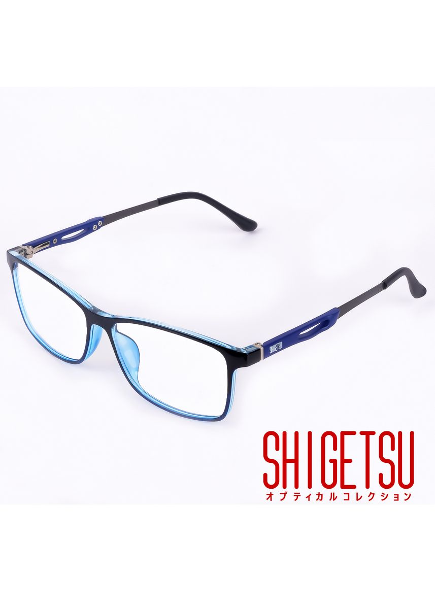 Blue color Frames . Shigetsu GUNMA Square Computer eyeglasses for Men with Anti Radiation/Bluelight in Acetate frame -