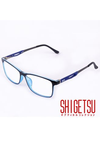 . Shigetsu GUNMA Square Computer eyeglasses for Men with Anti Radiation/Bluelight in Acetate frame -