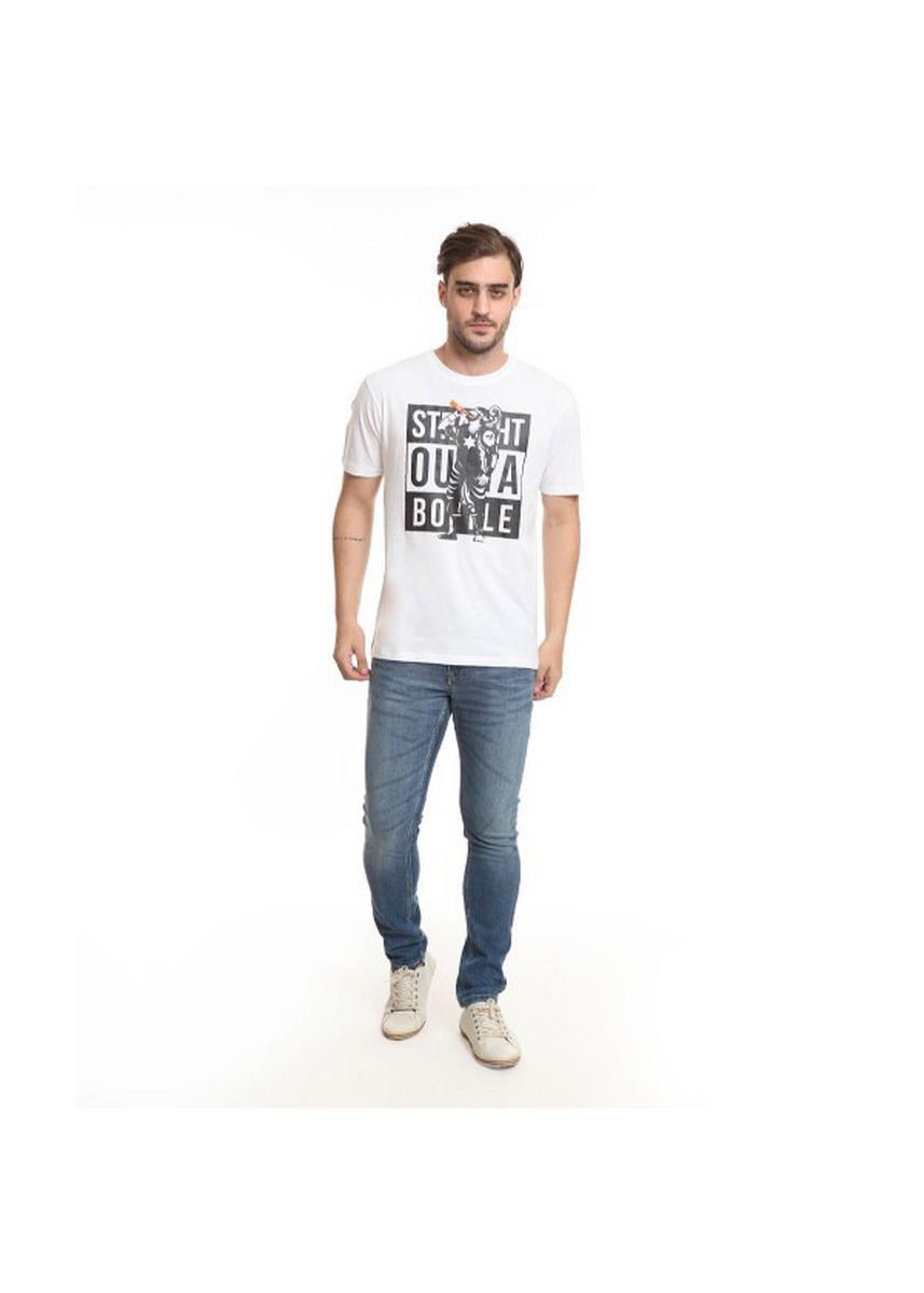 Putih color Kaus Oblong & Polo . Staight Outta Bottle Male White -