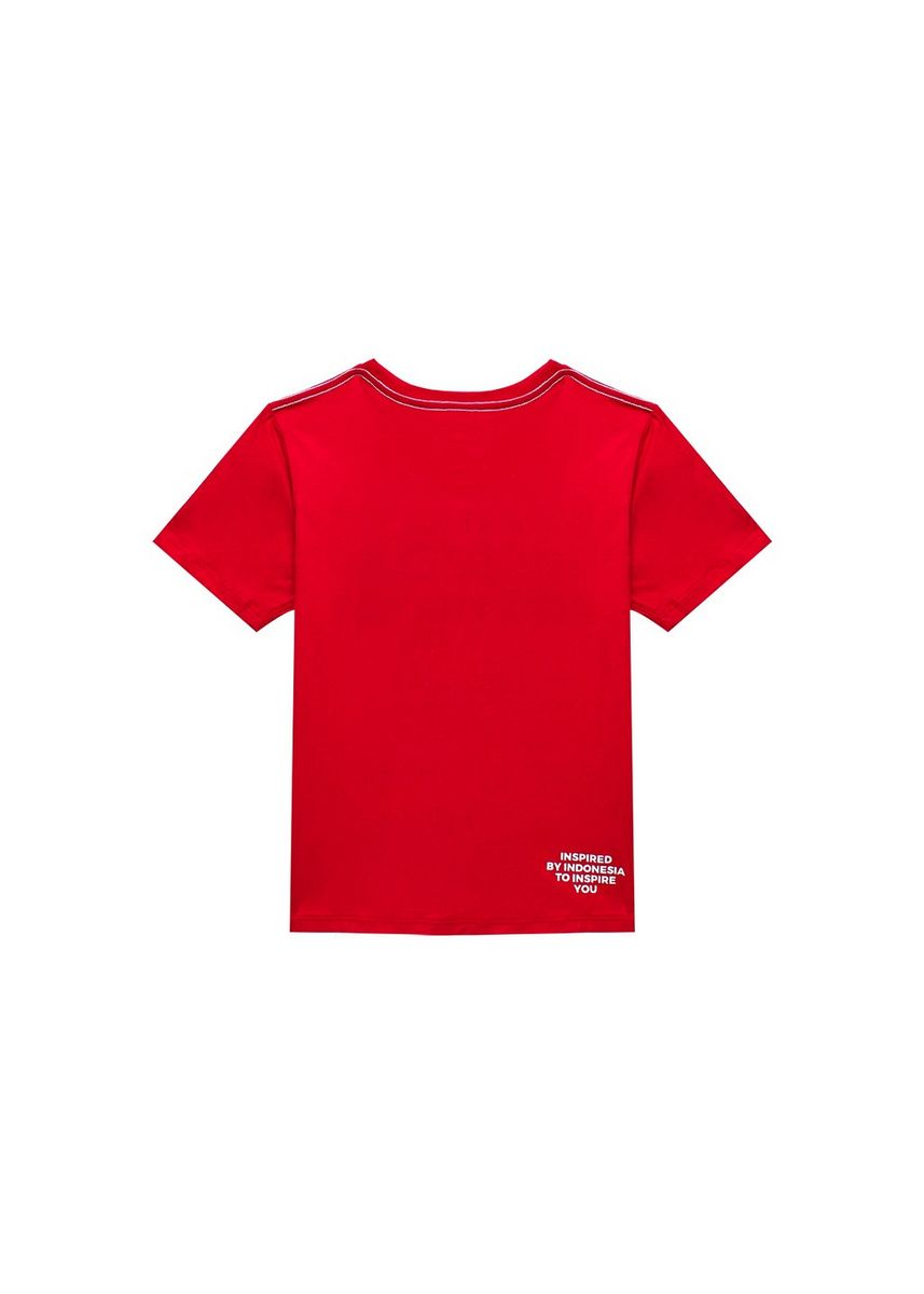 Merah color Kaus Oblong & Polo . Tee Sign Red Hd White Junior -
