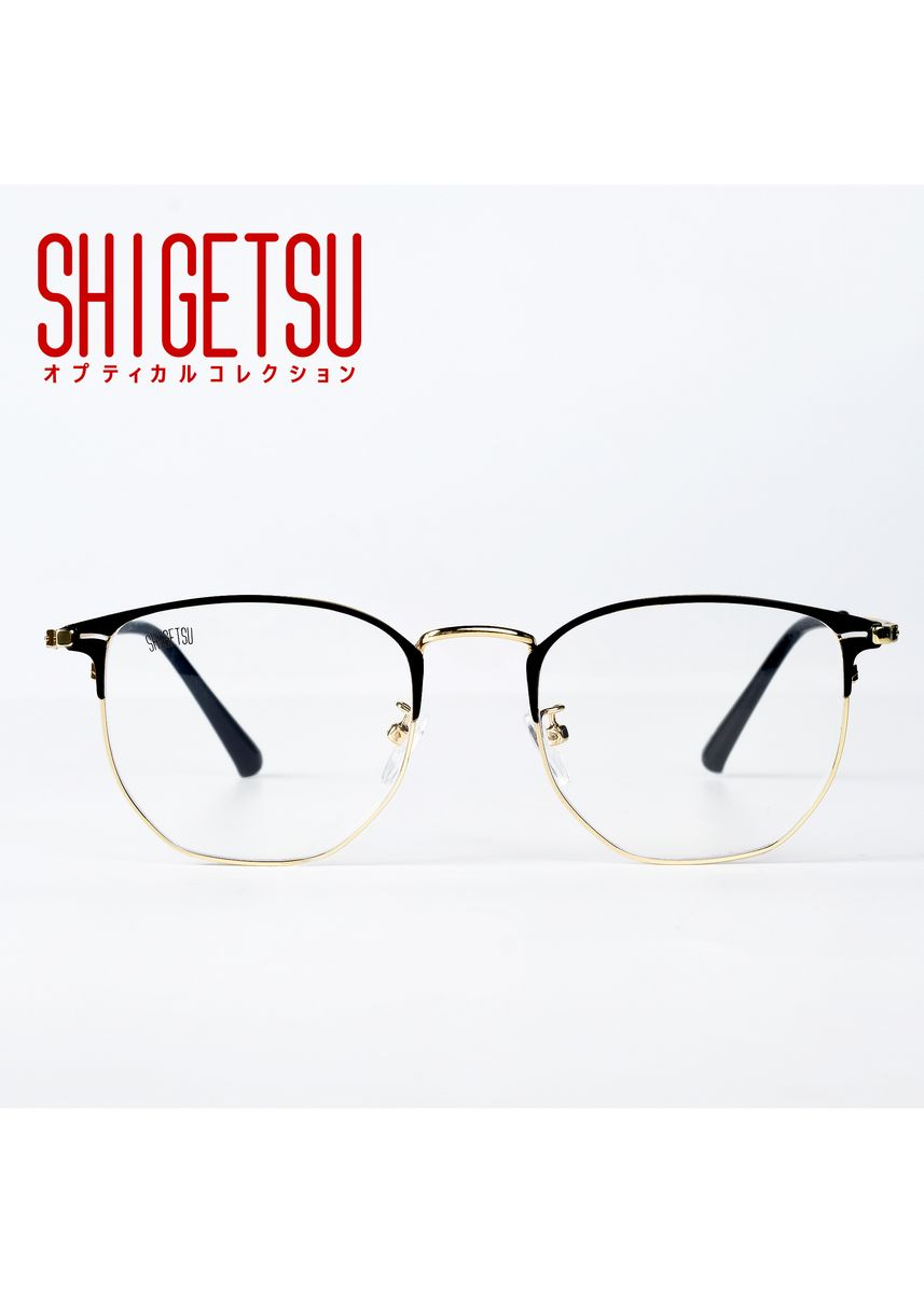 Gold color Frames . Shigetsu AICHI Semi round Computer eyeglasses for Women with Anti Radiation/Bluelight Metal Frame -