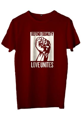 Maroon color T-Shirts and Polos . dearyou - KAOS DEFEND EQUALITY -