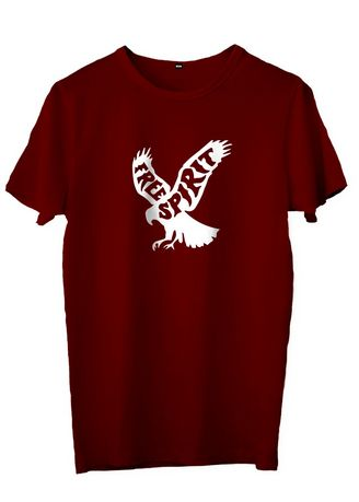 Maroon color T-Shirts and Polos . DEARYOU - KAOS FREE SPIRIT -