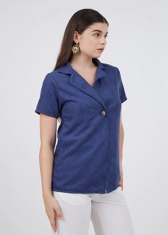 Navy color Jackets . Sophie Kandra Basic Outer Navy -