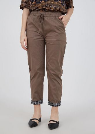 Trousers . Sophie Mazia Straight Pants Brown -
