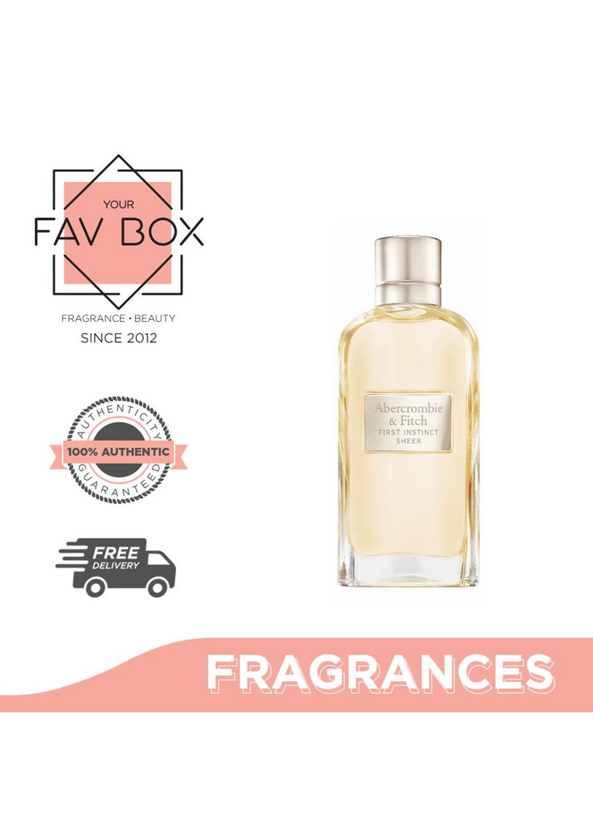 No Color color Fragrances . YOUR FAV BOX Abercrombie & Fitch First Instinct Sheer for Her 100ml -