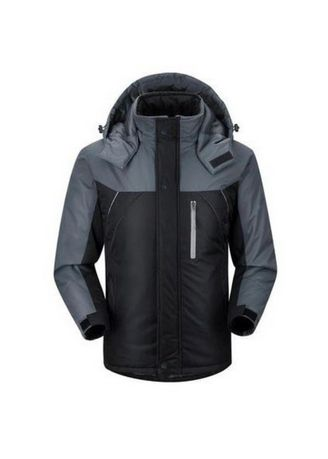 Black color Jackets . EM'S Jaket Gunung Waterproof Pria -