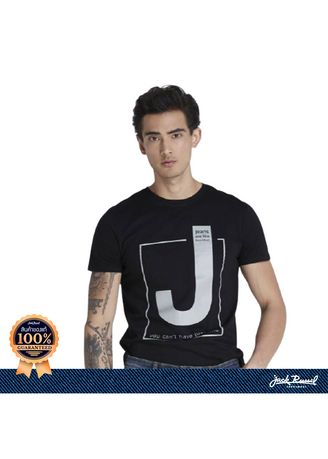 Black color T-Shirts and Polos . JACK RUSSEL เสื้อยืดคอกลม TJ-804 -