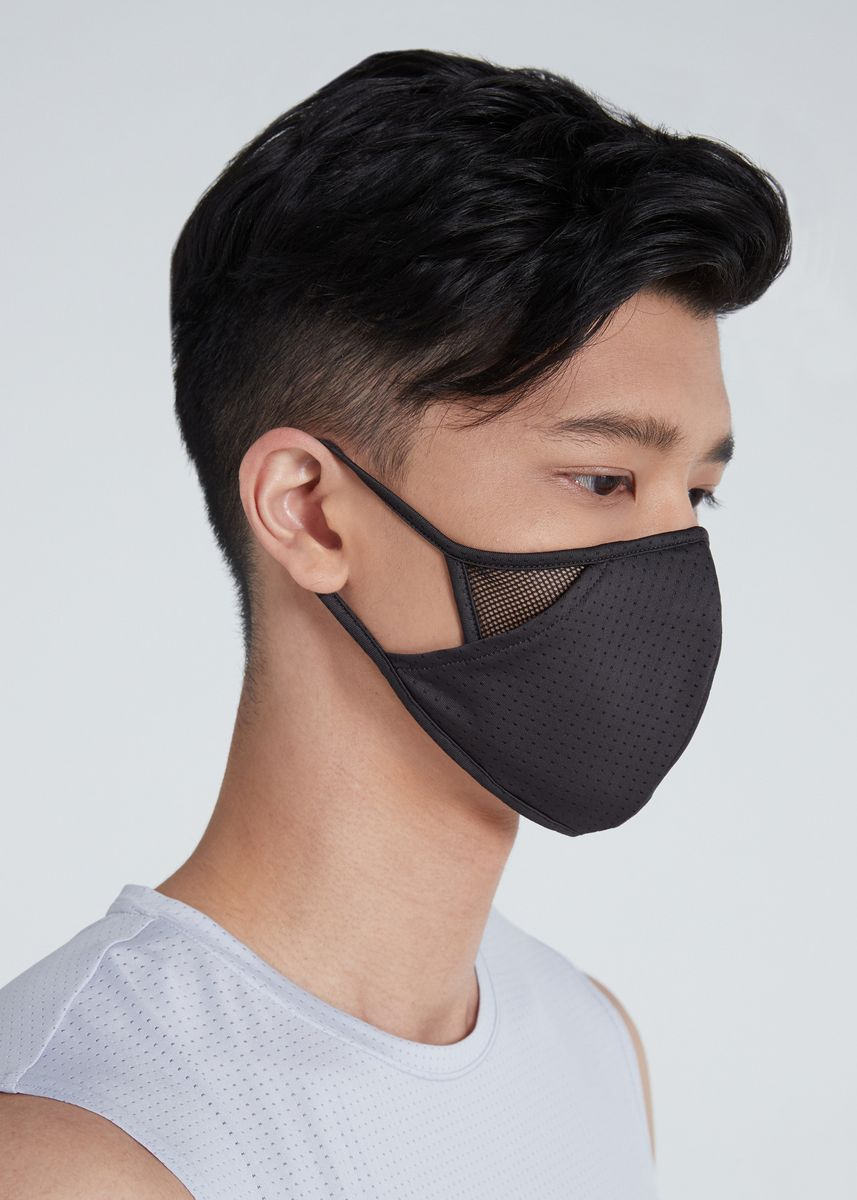 darkgrey color แผ่นมาสก์ . Mul A day Mask Coolmax Water repellent   Size M -