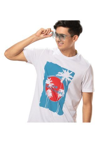 White color T-Shirts and Polos . Woodville Men's T-Shirt -